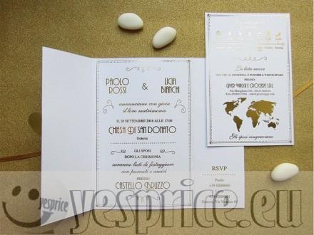 code WEDPAR40 - PARTECIPAZIONI WEDDING CERIMONIE DI LUSSO LIGURIA - GENOVA - Partecipazioni a partire da €5