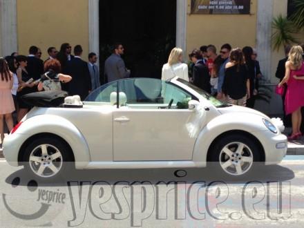 RUGGENTI e BLASONATE LUXURY RENT SERVIZIO NOLEGGIO CERIMONIA CON AUTISTA VW NEW BEETLE CABRIO BIANCO CON AUTISTA  BASILICATA da €400 chiedi info clicca qui
