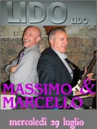 29 LUGLIO 2015 AL LIDO LIDO CON MASSIMO E MARCELLO LIVE SHOW MUSIC