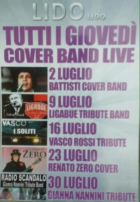 ESTATE 2015 - TUTTI I GIOVEDI' AL LIDO LIDO : COVER BAND LIVE