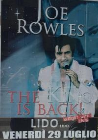 29 LUGLIO Joe Rowles bravissimo interprete DEL MITICO ELVIS
