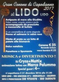"""GRAN CENONE DI CAPODANNO 2016/2017  AL Lido """"LIDO"""""""