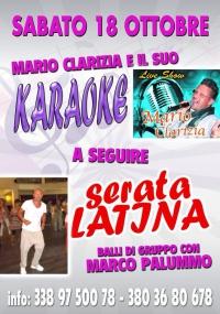SERATA DI KARAOKE LIVE SHOW CON MARCO CLARIZIA