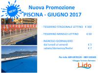 2017 Nuova Promozione Piscina per il Mese di Giugno