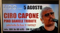 """CIRO CAPONE  - PINO DANIELE TRIBUTE IL  5 agosto  2017   e' di scena al Lido """"LIDO"""""""