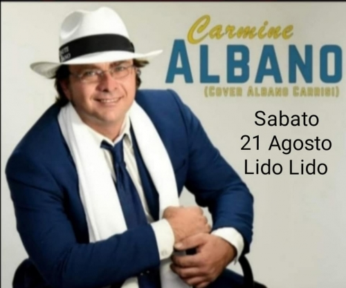 CARMINE ALBANO AL LIDO LIDO - COVER ALBANO CARRISI