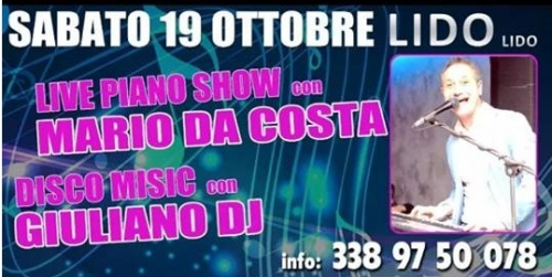 MARIO DA COSTA  e disco MUSIC CON GIULIANO DJ