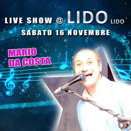 Live show  al Lido Lido con Mario da Costa