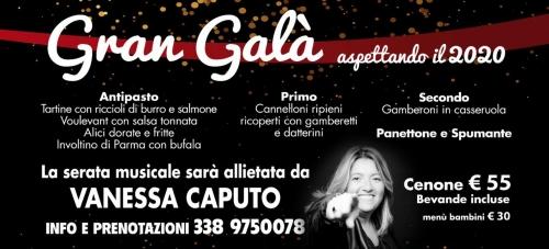 Gran Galà di capodanno 2019 - 2020 AL LIDO LDIO Live show con Vanessa Caputo.
