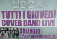 30 LUGLIO 2015 GIANNA NANNINI TRIBUTE - COVER BAND LIVE