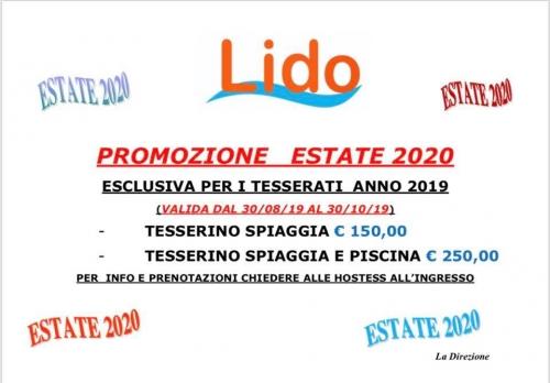 Promozione Estate 2020 al Lido Lido Salerno