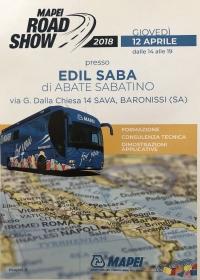 GIOVEDÌ 12 APRILE 2018 MAPEI ROAD SHOW: consulenza tecnica, formazione, dimostrazioni applicative