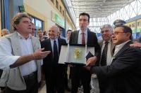 Il Ministro delle Politiche Agricole Alimentari e Forestali, Maurizio Martina, in visita al Centro Agro-Alimentare di Salerno