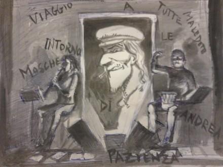 Disegno del pittore Stefano Cianti, omaggio da spettatore