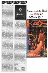 Recensione sulla rivista KAOS