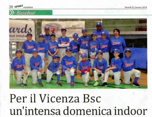 Per il Vicenza Bsc un'intensa domenica indoor