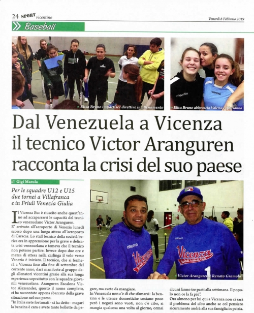 Dal Venezuela a Vicenza il tecnico Vietar Aranguren racconta la crisi del suo paese
