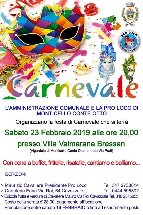 Festa Carnevale a Cavazzale