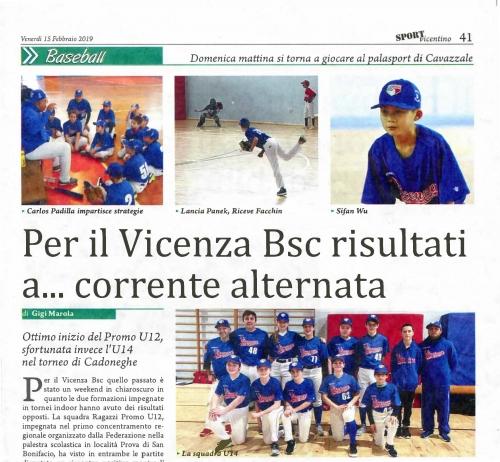 Per il Vicenza Bsc risultati a ... corrente alternata