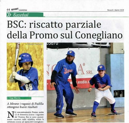 BSC: riscatto parziale  della Promo Sul Conegliano