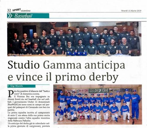 Studio Gamma anticipa e vince il primo derby