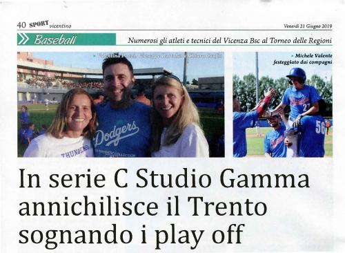 In serie C Studio Gamma annichilisce il Trento sognando i play off
