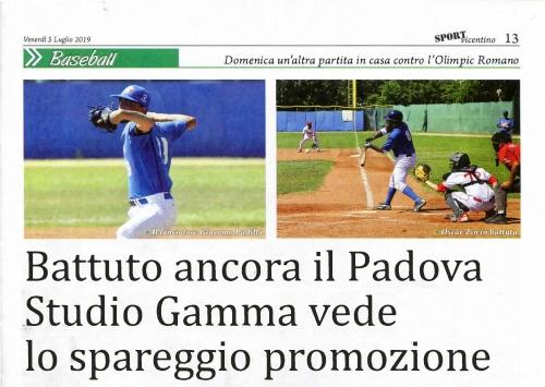Battuto ancora il Padova Studio Gamma vede  lo spareggio promozione