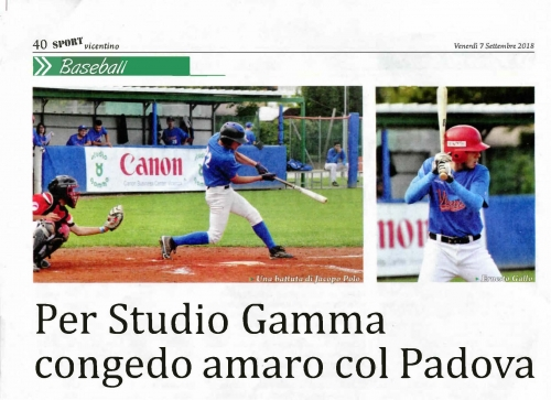 Per Studio Gamma congedo amaro col Padova