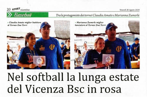 Nel softball la lunga estate del Vicenza Bsc in rosa