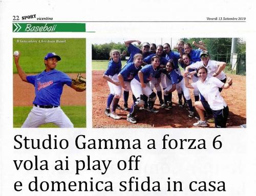 Studio Gamma a forza 6 vola ai play off  e domenica sfida in casa