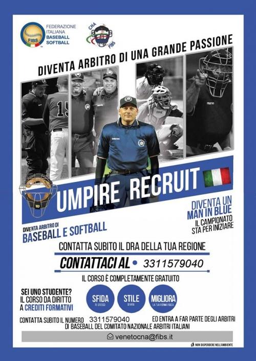 Corso Arbitro Baseball softball