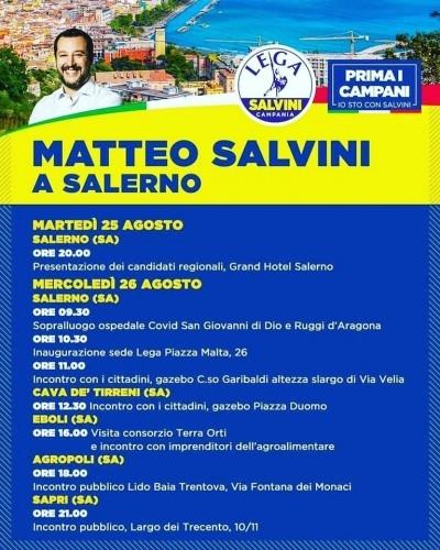 In giro in provincia di Salerno con il leader della Lega Matteo
