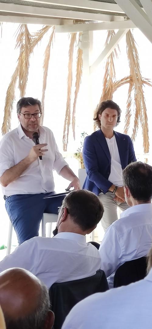 Incontro con Giancarlo Giorgetti Ministro dello Sviluppo Economico della Lega.