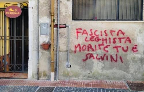 """Minacce contro il candidato sindaco Siniscalco, interviene Salvini: """"Vigliacchi"""""""""""
