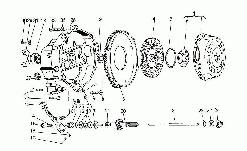 Gruppo Frizione Moto Guzzi cod GU32080310