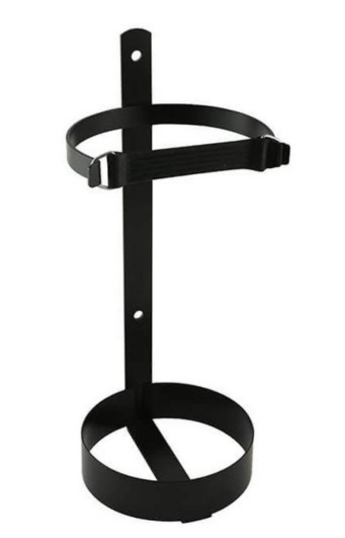 Supporto portaestintore nero in acciaio per autocarro