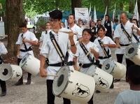 Figuranti medioevali,Tamburini e Sbandieratori Grup Furlan di Valvasone