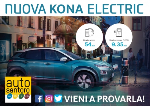 Hyundai Kona Electric, solo da Autosantoro la Wall-box è in omaggio