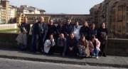 il coro a Firenze col Parroco Don Michele Casula