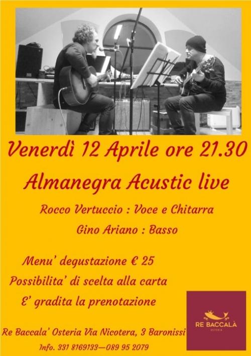° 12 APRILE - VENERDI' di MUSICA LIVE al Re Baccalà °