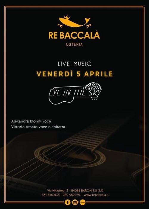 °°° 5 APRILE - VENERDI' di MUSICA LIVE all'Osteria del Re °°°