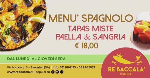 *** MENU' SPAGNOLO 18€ ***