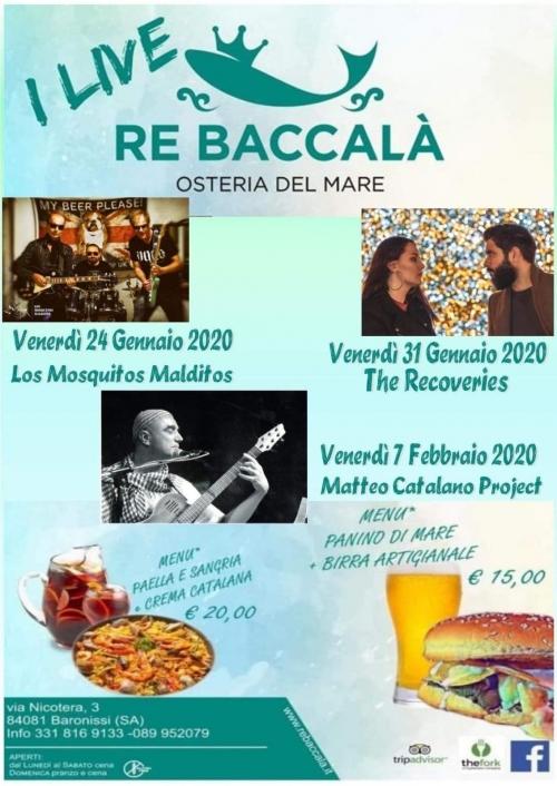 ° I VENERDI' di MUSICA LIVEEE all'Osteria del RE : 24/01-31/01-07/02  °