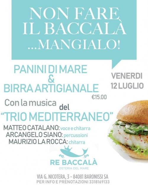 °*° VENERDI' 12 LUGLIO: PANINO DI MARE & BIRRA ARTIGIANALE con MUSICA LIVE !!! °*°