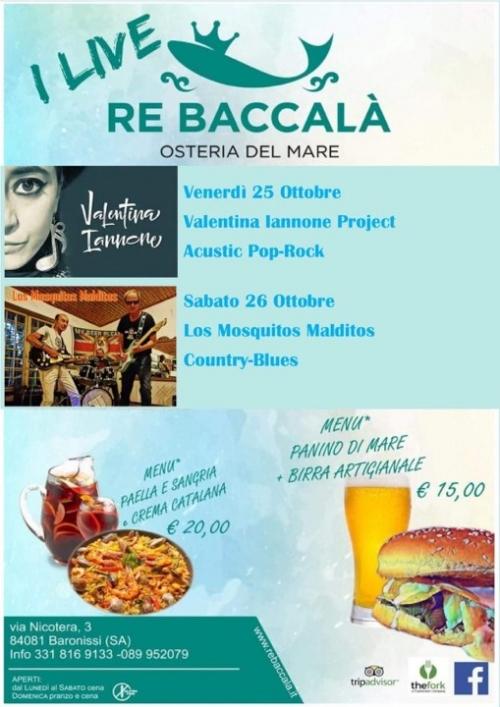 *°* DOPPIO APPUNTAMENTO di MUSICA LIVEEE: VENERDI' 25 & SABATO 26 OTTOBRE *°*
