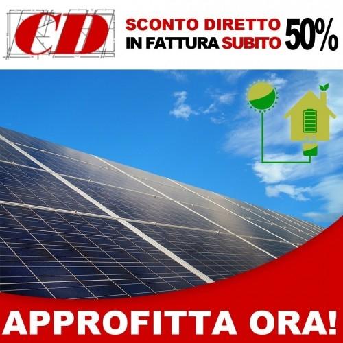 Installazione impianto fotovoltaico con ecobonus del 50% subito in fattura