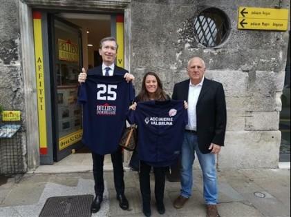Nella foto: Alessandro Bellieni, Giulia Amenduni, Umberto Trevelin