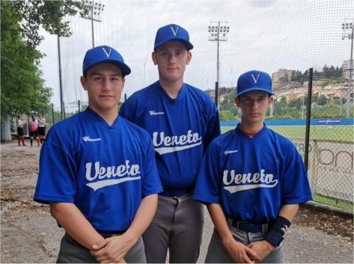 Nella foto: Lorenzo Chessari, Jacopo Benetti, Alessandro Lotti  nella Senior League