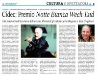 CRONACHE - Cidec: Premio Notte Bianca Week-End