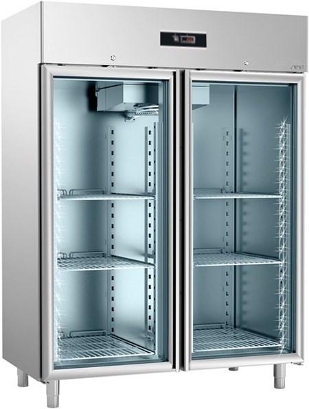 SAGI - Frigo con porta a vetro-GN2/1-AISI 304-Freezy New